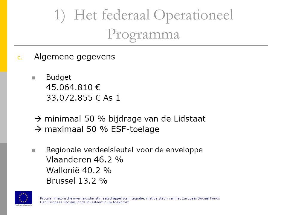 1) Het federaal Operationeel Programma c.