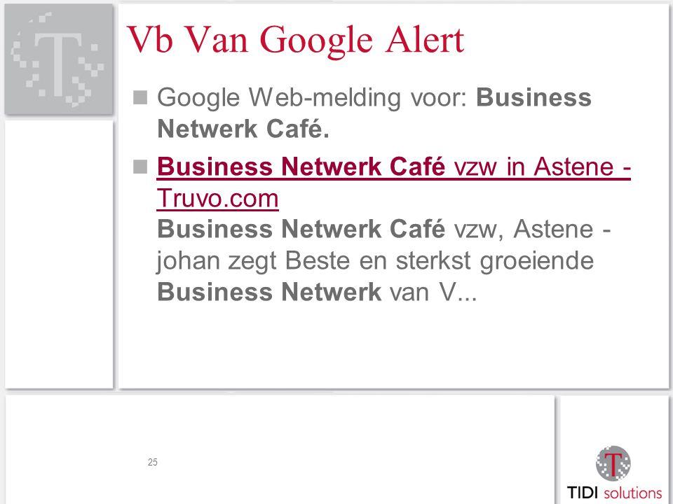 Vb Van Google Alert Google Web-melding voor: Business Netwerk Café.