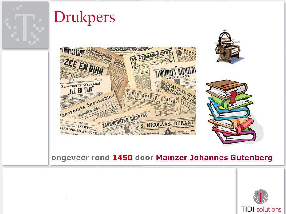 Drukpers 4 ongeveer rond 1450 door Mainzer Johannes GutenbergMainzerJohannes Gutenberg