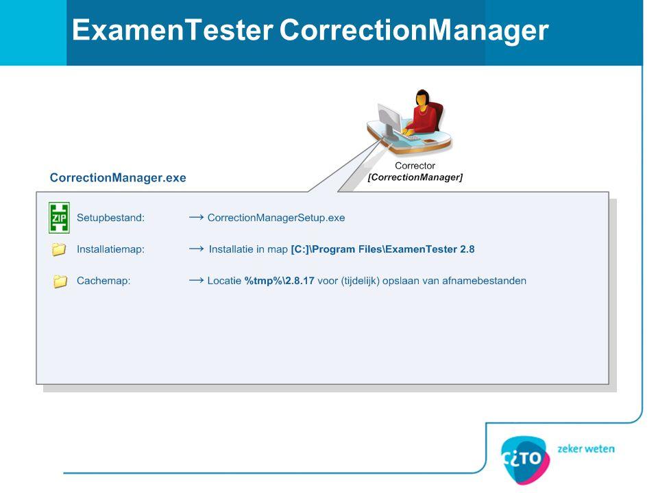 ExamenTester CorrectionManager