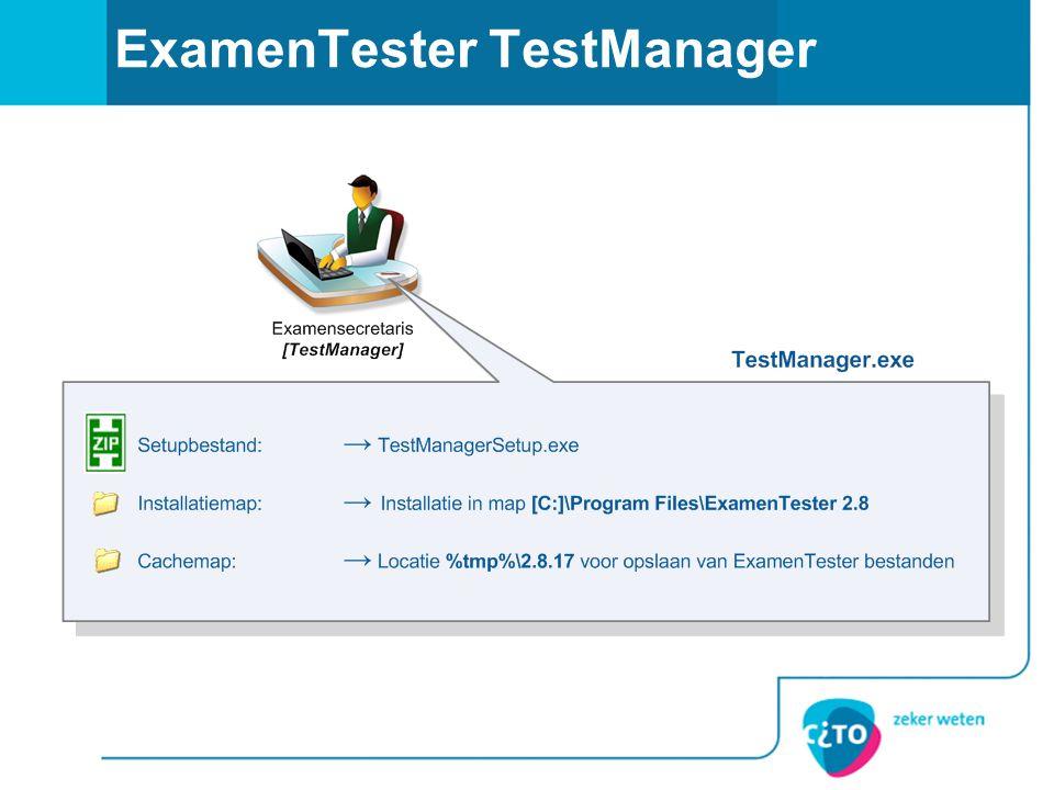 ExamenTester TestManager
