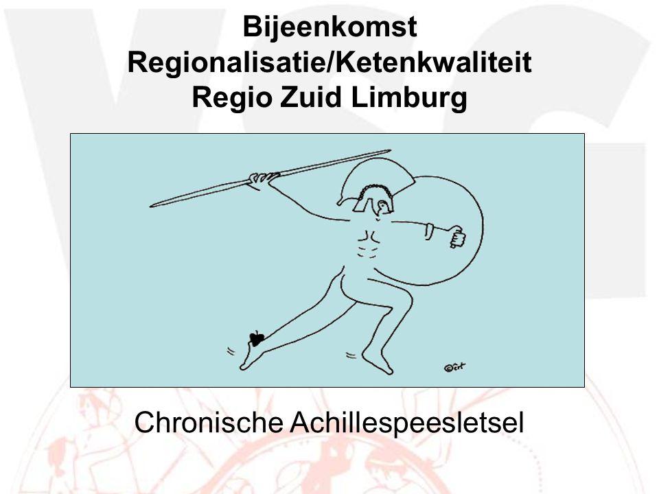 Bijeenkomst Regionalisatie/Ketenkwaliteit Regio Zuid Limburg Chronische Achillespeesletsel