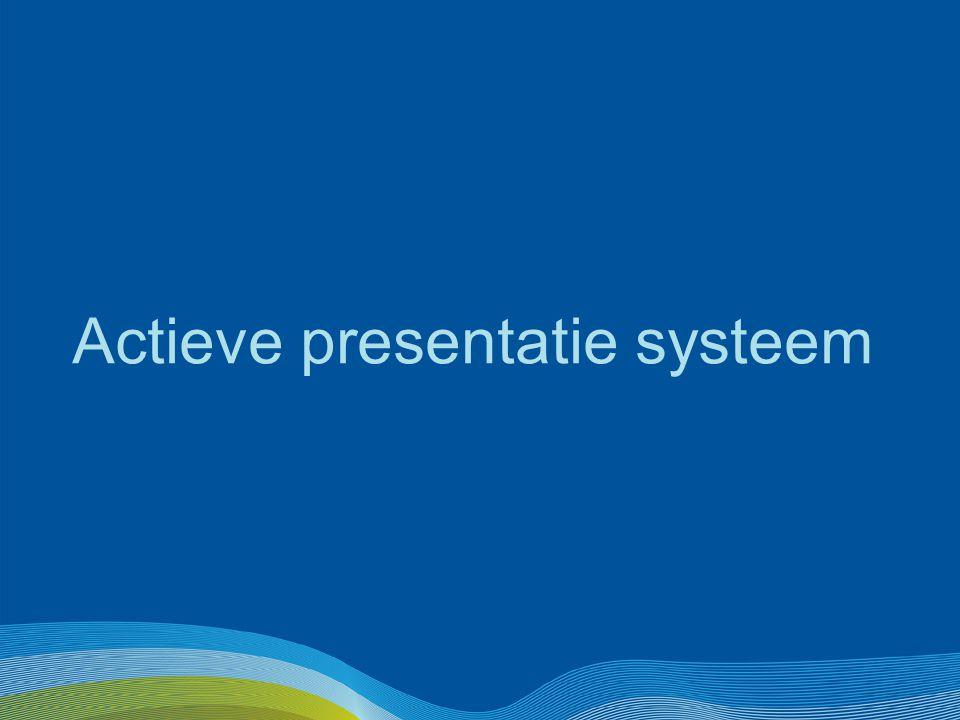 Actieve presentatie systeem