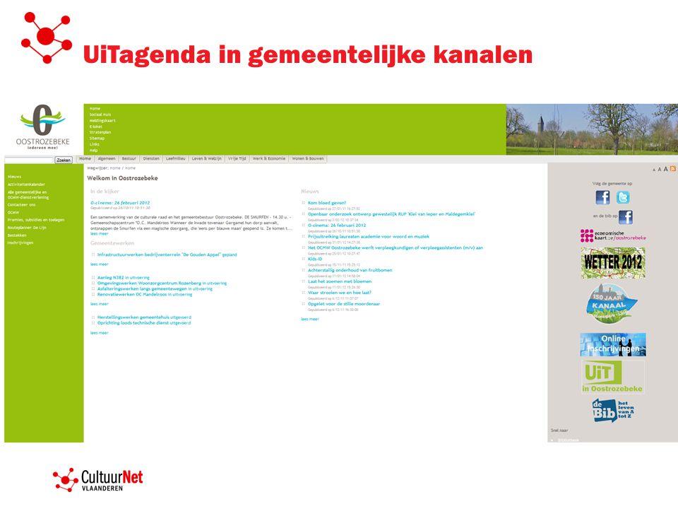 UiTagenda in gemeentelijke kanalen