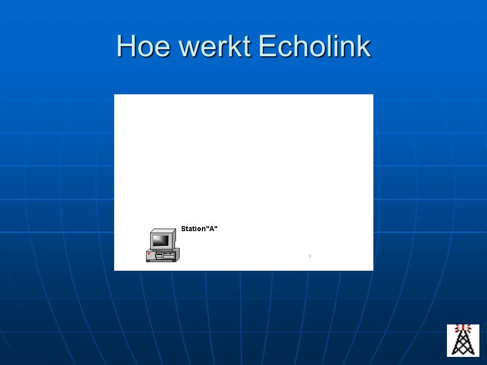 Hoe werkt Echolink