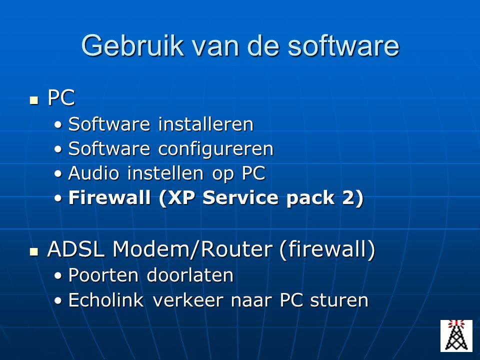 Gebruik van de software PC PC Software installerenSoftware installeren Software configurerenSoftware configureren Audio instellen op PCAudio instellen