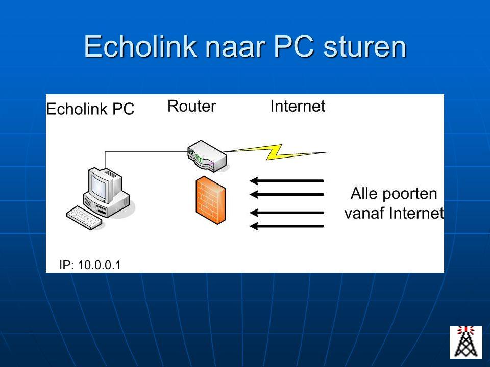 Echolink naar PC sturen