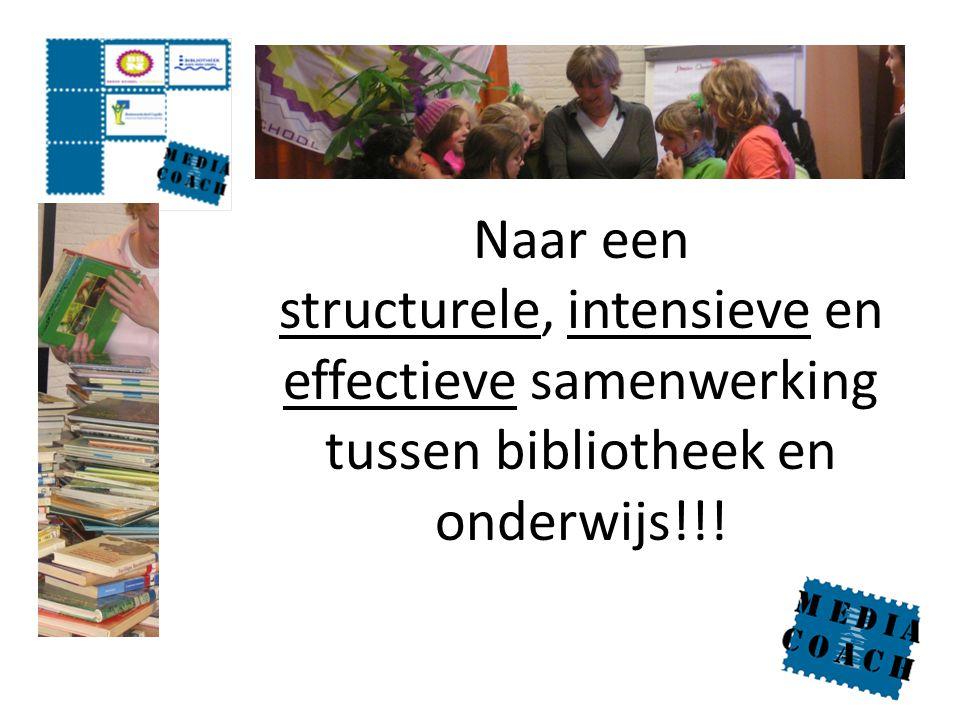 Naar een structurele, intensieve en effectieve samenwerking tussen bibliotheek en onderwijs!!!