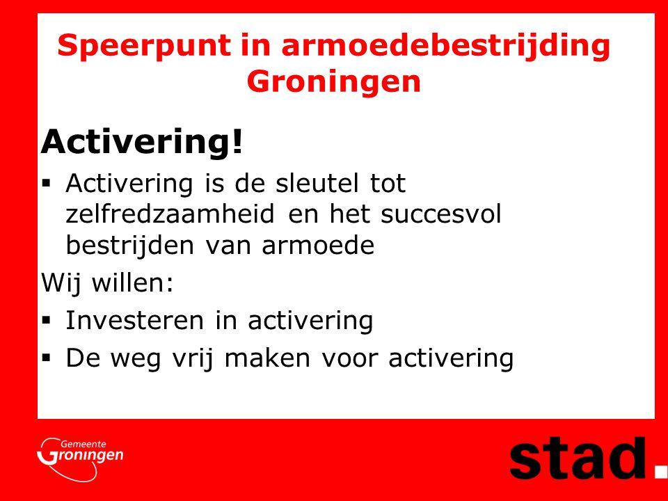 Speerpunt in armoedebestrijding Groningen Activering.