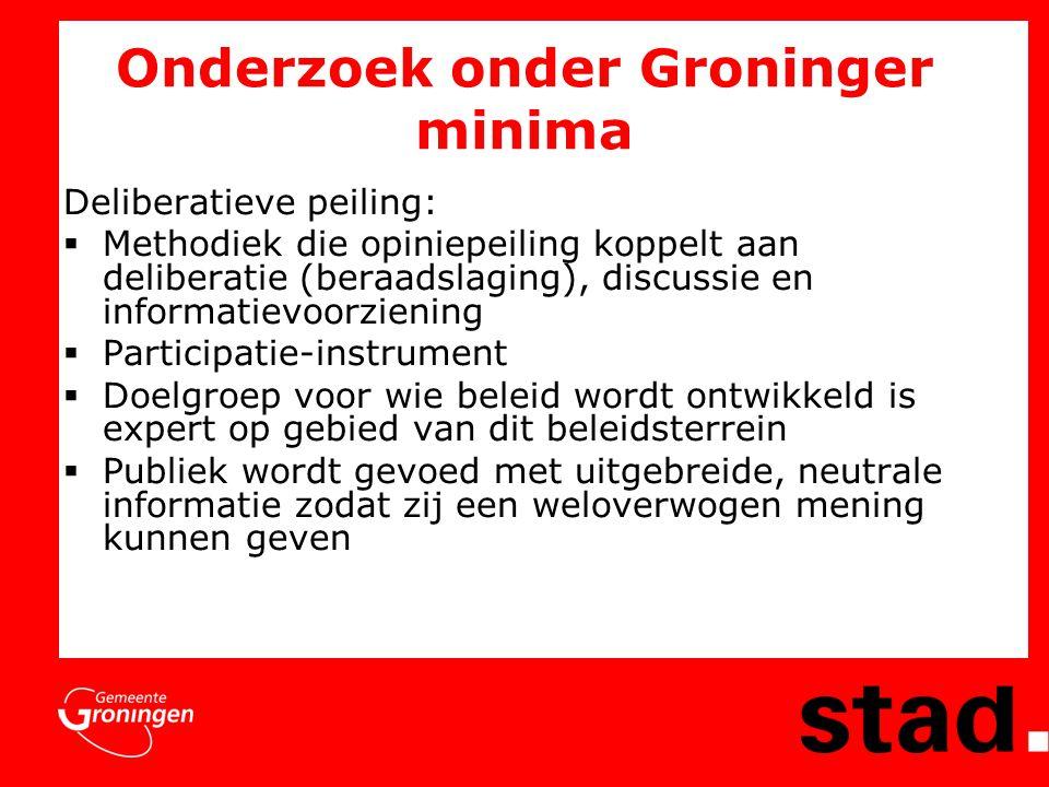 Deliberatieve peiling en film  Medium film gebruikt voor informatieoverdracht  O&S: communiceren met beeld veel effectiever dan communiceren met tekst  Mogelijke thema's voor armoedebeleid verfilmd: http://www.stadjersonline.nl/rang.html http://www.stadjersonline.nl/rang.html http://www.stadjersonline.nl/films.html