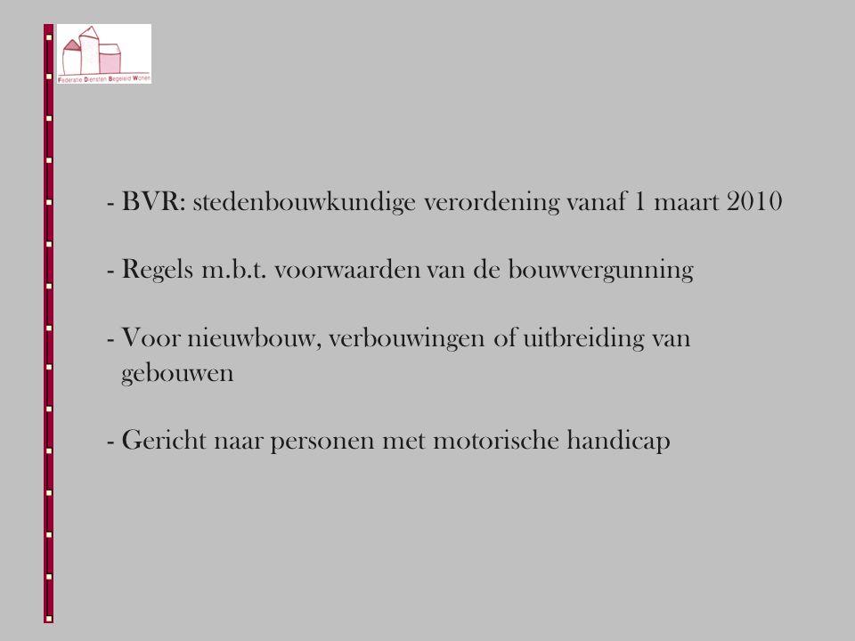 - BVR: stedenbouwkundige verordening vanaf 1 maart 2010 - Regels m.b.t.