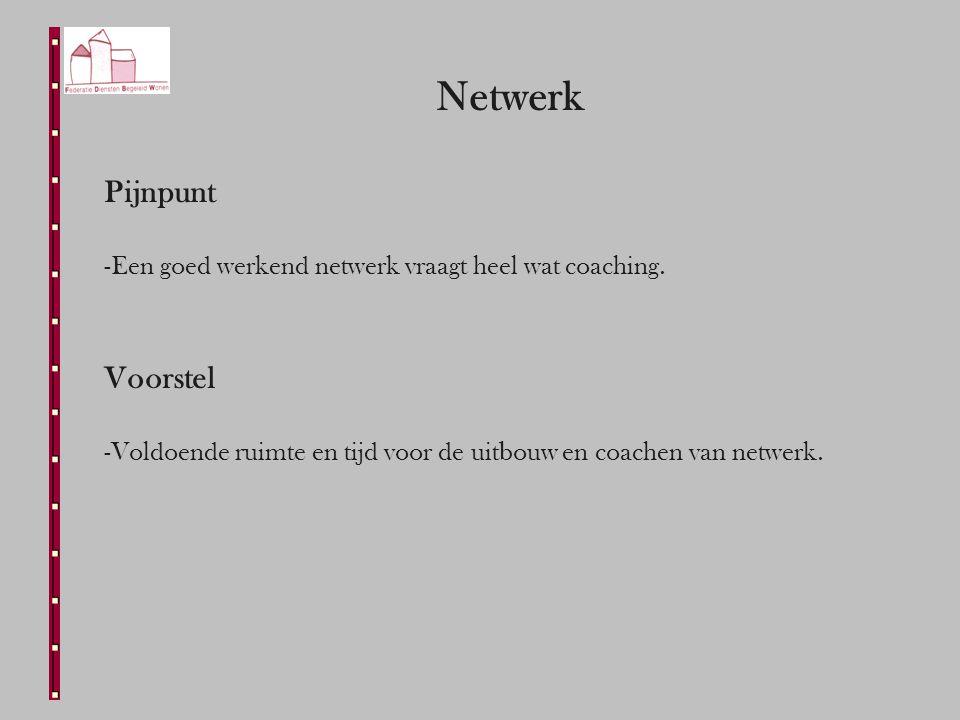 Netwerk Pijnpunt -Een goed werkend netwerk vraagt heel wat coaching.