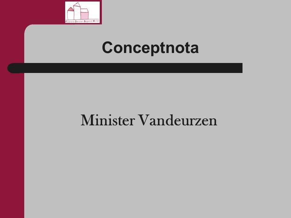 Conceptnota Minister Vandeurzen