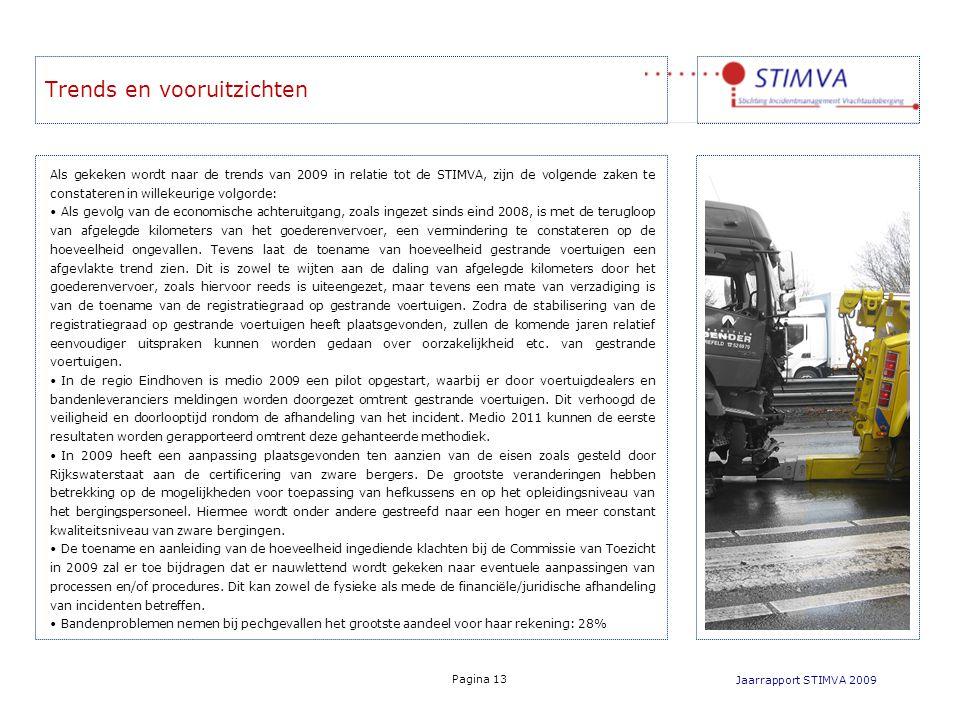 Trends en vooruitzichten Jaarrapport STIMVA 2009 Pagina 13 Als gekeken wordt naar de trends van 2009 in relatie tot de STIMVA, zijn de volgende zaken