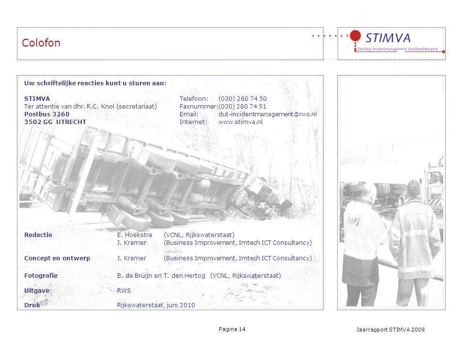 Colofon Uw schriftelijke reacties kunt u sturen aan: STIMVA Telefoon: (030) 280 74 50 Ter attentie van dhr. R.C. Knol (secretariaat) Faxnummer:(030) 2