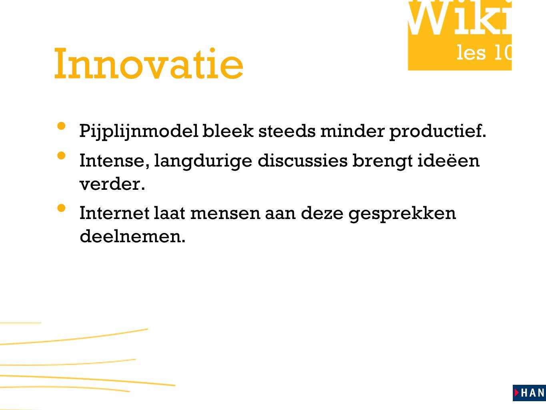 les 10 Innovatie Pijplijnmodel bleek steeds minder productief.