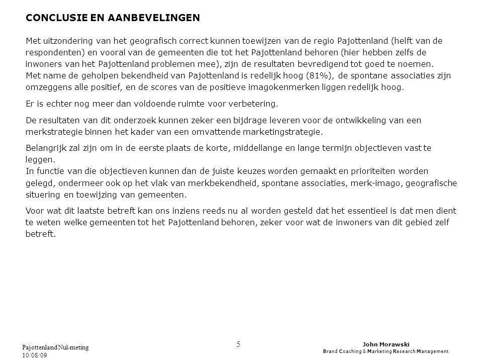 John Morawski Brand Coaching & Marketing Research Management Pajottenland Nul-meting 10/08/09 6