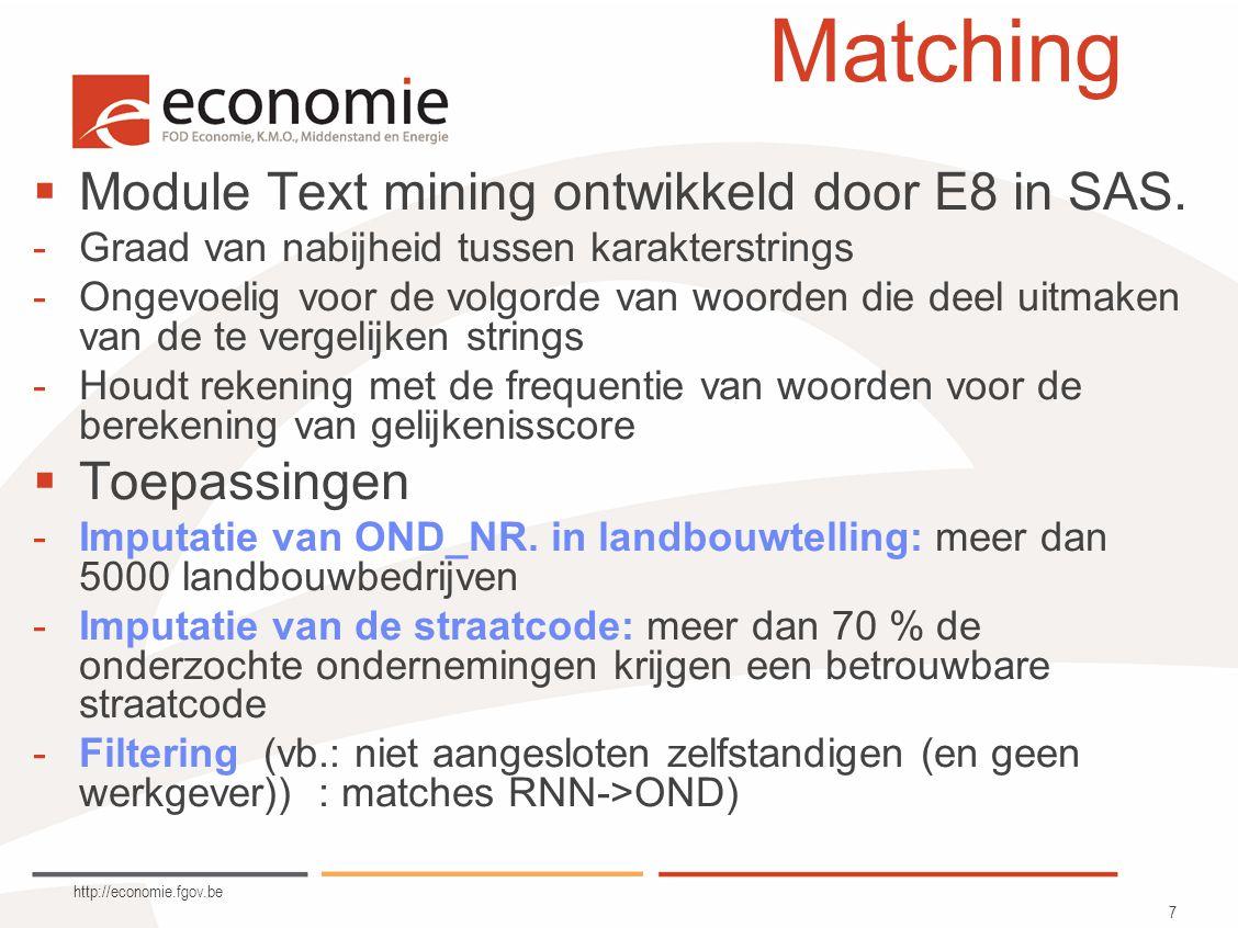 http://economie.fgov.be 8 Plan  Demografie van ondernemingen.