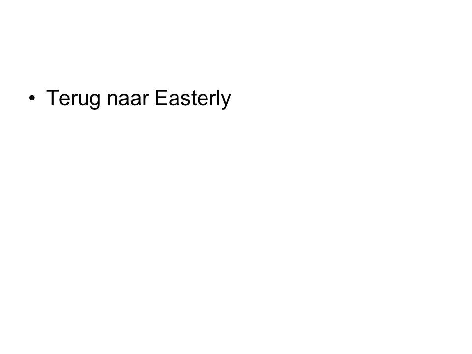 Terug naar Easterly