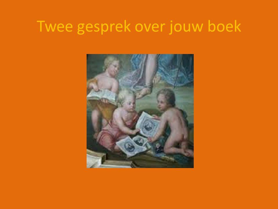 Twee gesprek over jouw boek