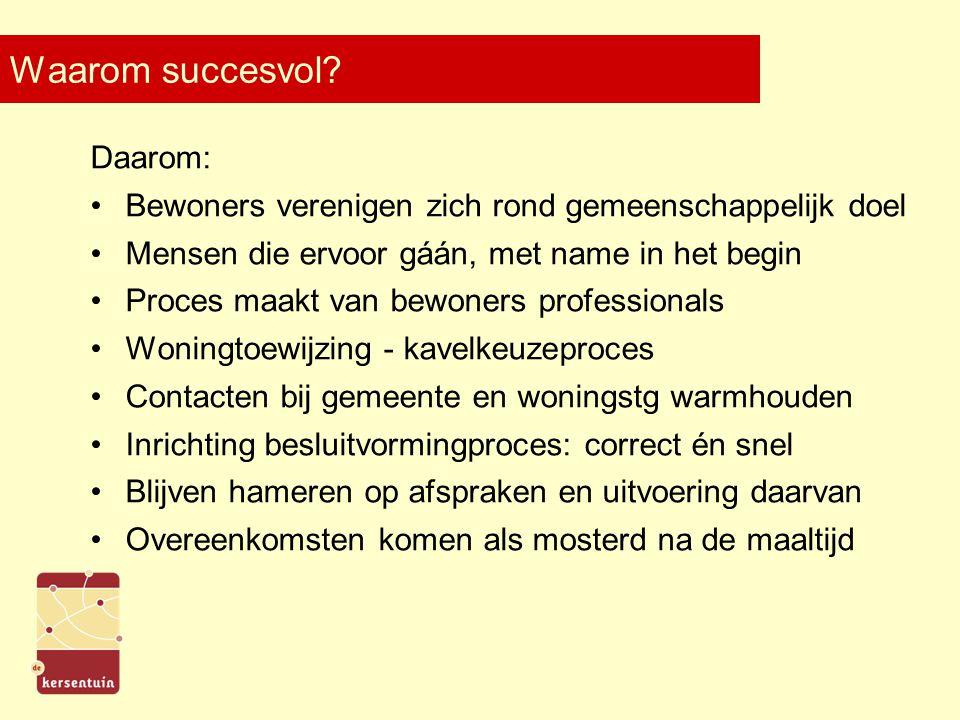 Waarom succesvol.