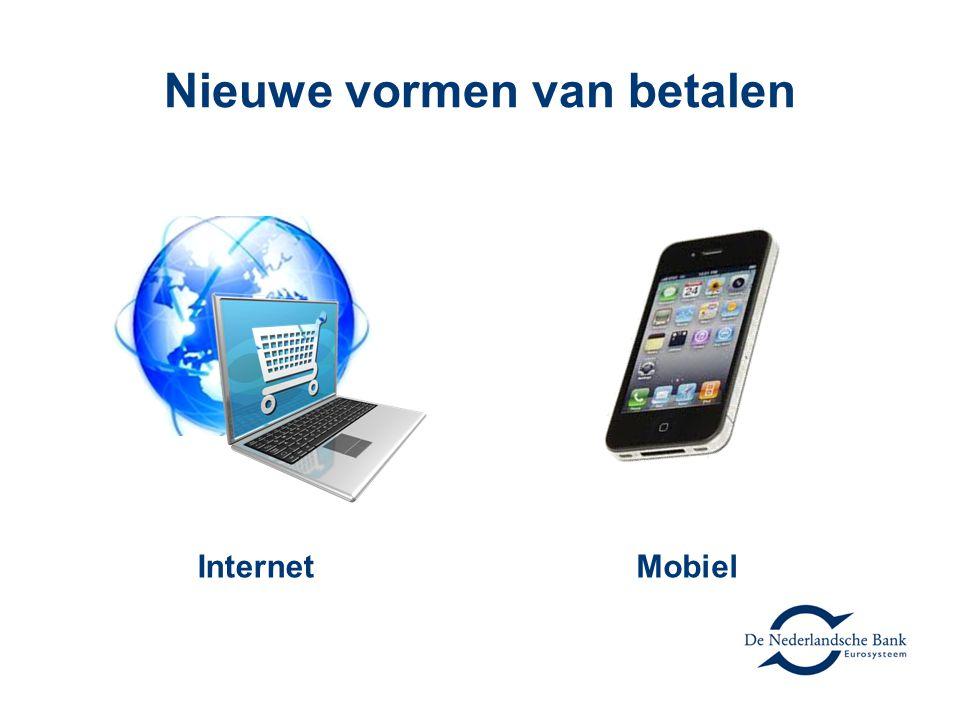 E-money Account Overschrijving via internetbankieren Creditcard Credits in social media Digitale nota binnen internetbankieren Prepaid Virtuele valuta