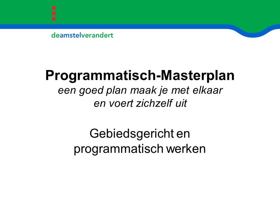 Programmatisch-Masterplan een goed plan maak je met elkaar en voert zichzelf uit Gebiedsgericht en programmatisch werken
