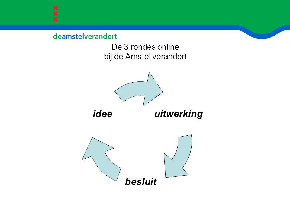 De 3 rondes online bij de Amstel verandert uitwerking besluit idee