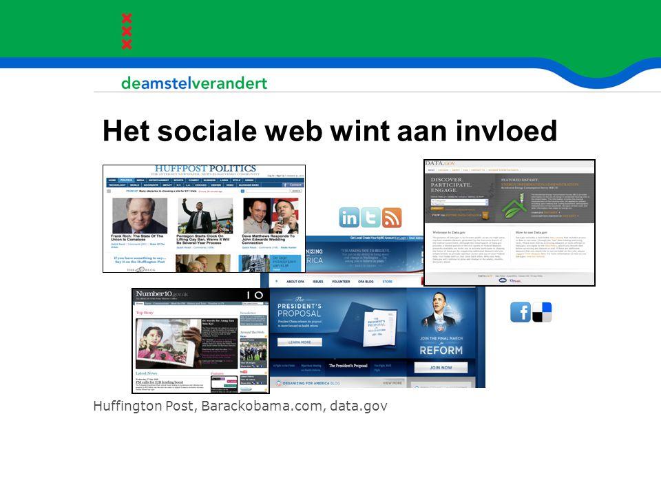 Het sociale web wint aan invloed Huffington Post, Barackobama.com, data.gov