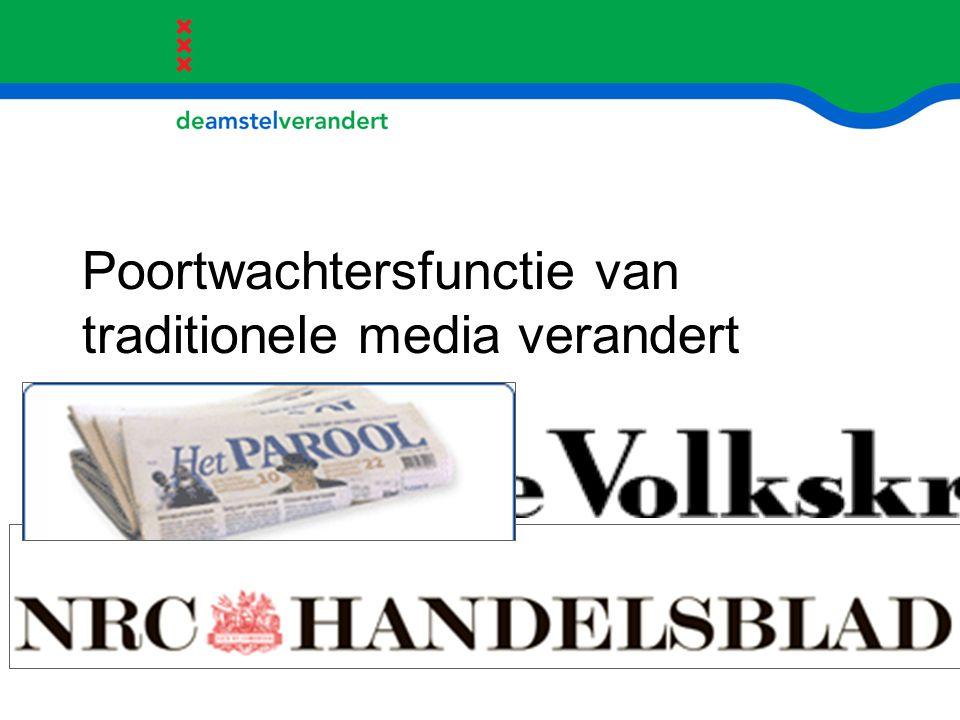 Poortwachtersfunctie van traditionele media verandert