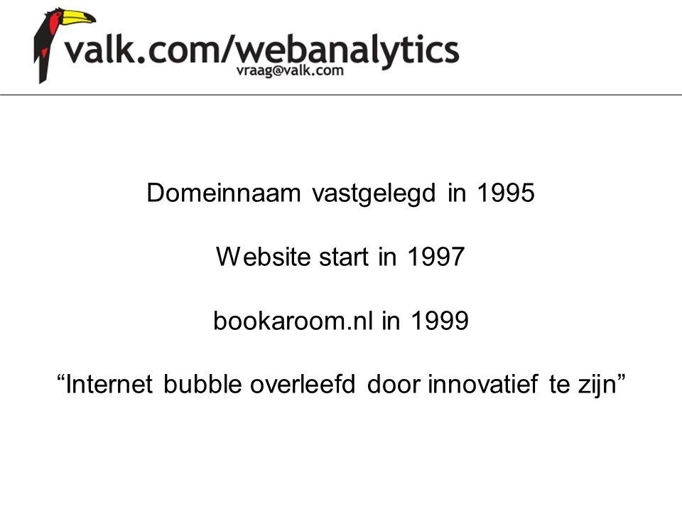 """Domeinnaam vastgelegd in 1995 Website start in 1997 bookaroom.nl in 1999 """"Internet bubble overleefd door innovatief te zijn"""""""