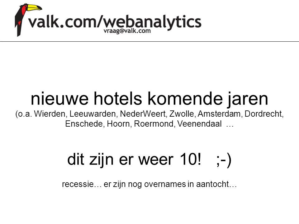 nieuwe hotels komende jaren (o.a. Wierden, Leeuwarden, NederWeert, Zwolle, Amsterdam, Dordrecht, Enschede, Hoorn, Roermond, Veenendaal … dit zijn er w
