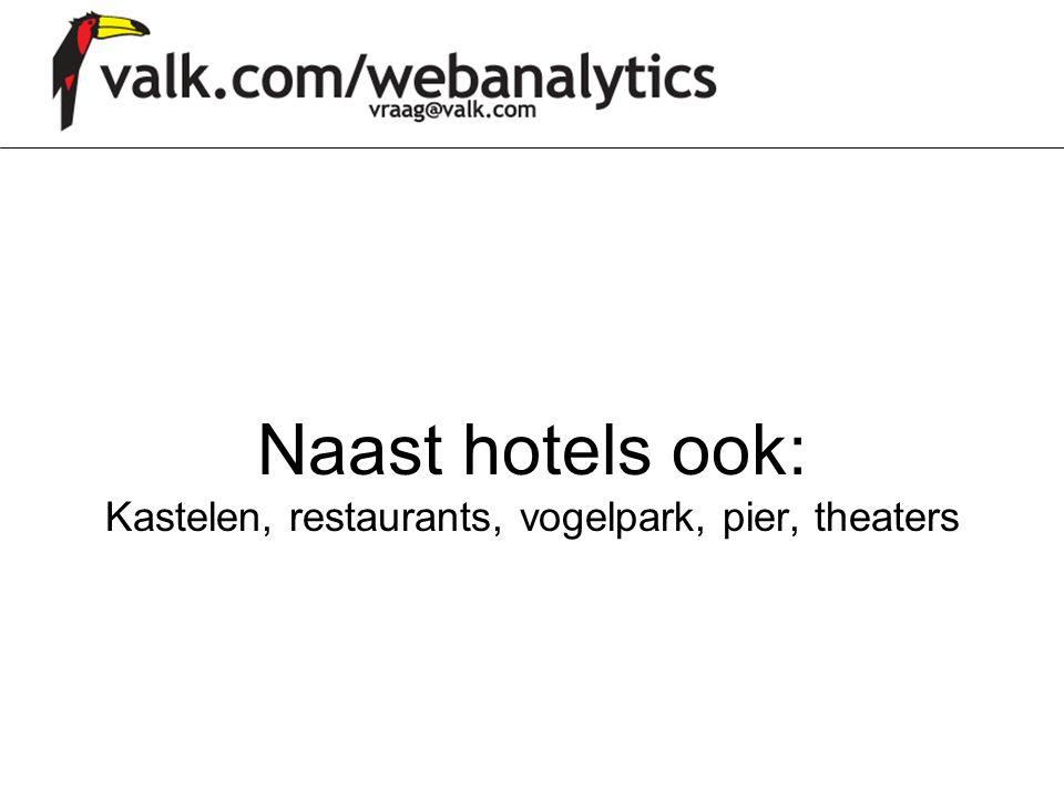 Naast hotels ook: Kastelen, restaurants, vogelpark, pier, theaters