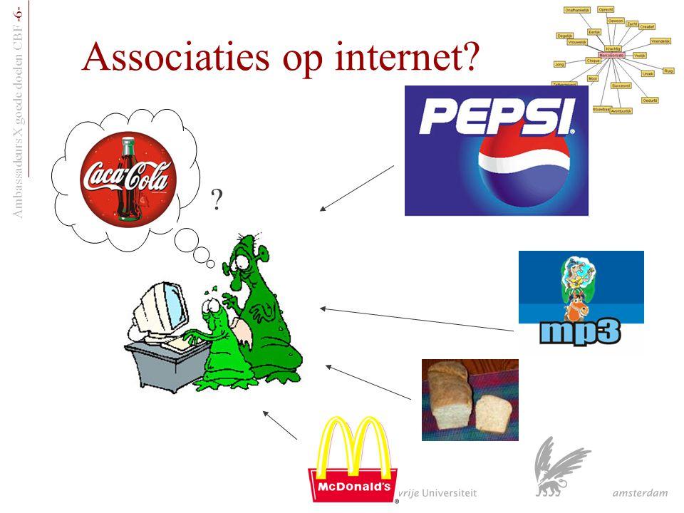 Ambassadeurs X goede doelen CBF -6- Associaties op internet? ?