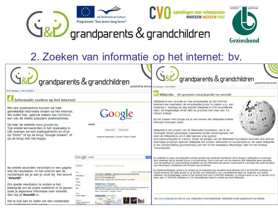 2. Zoeken van informatie op het internet: bv. 14