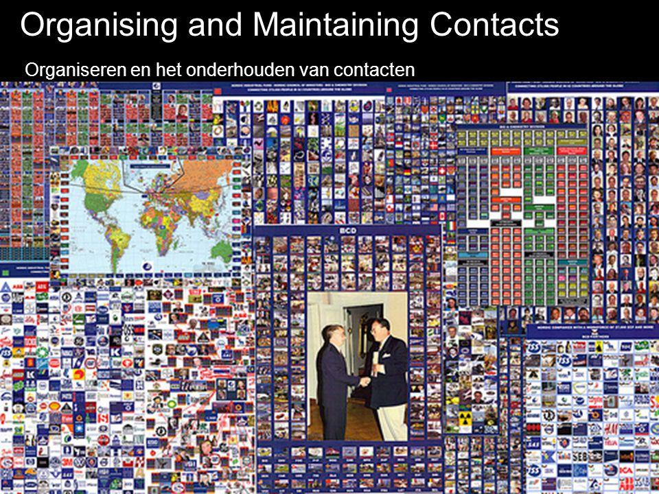 Organising and Maintaining Contacts Organiseren en het onderhouden van contacten