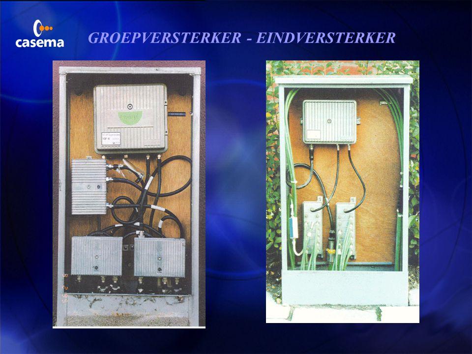 Telefoon via de kabel coax telecom- distributie- wijkcentra groep/eindversterker multitap centrum max..