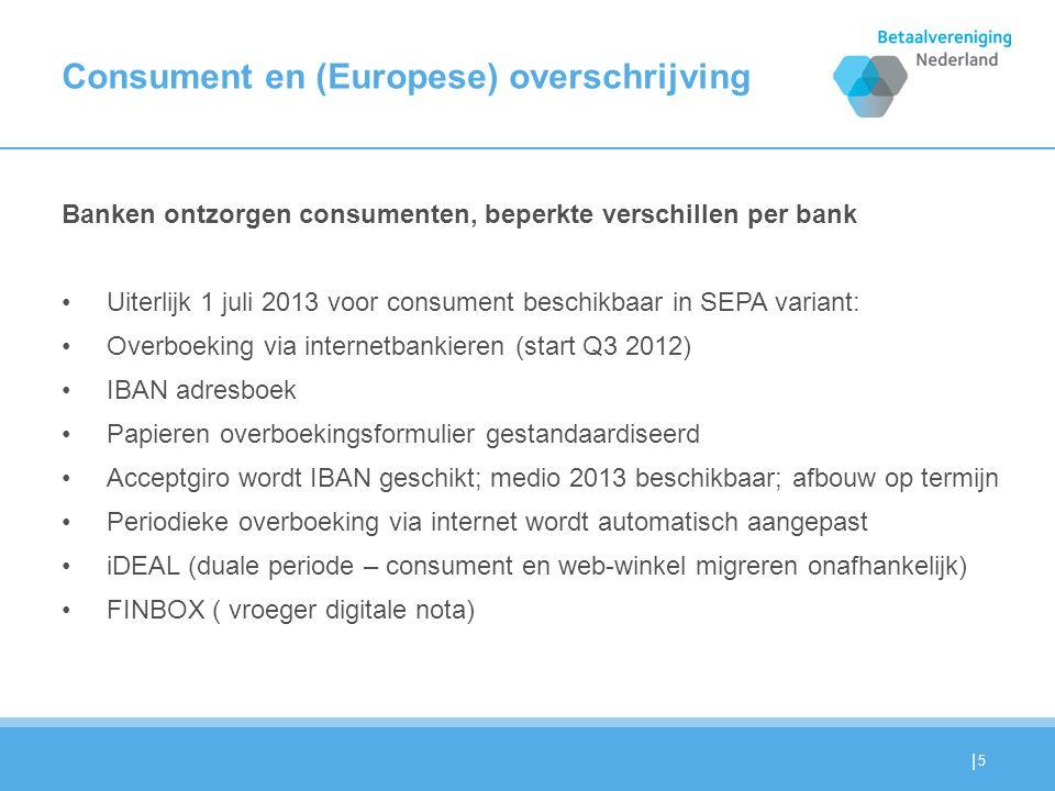 | MKB en Europese overschrijving (SCT) Voor klein zakelijk/MKB gebruik : 1.Veel parallel aan consumenten gebruik, maar …..