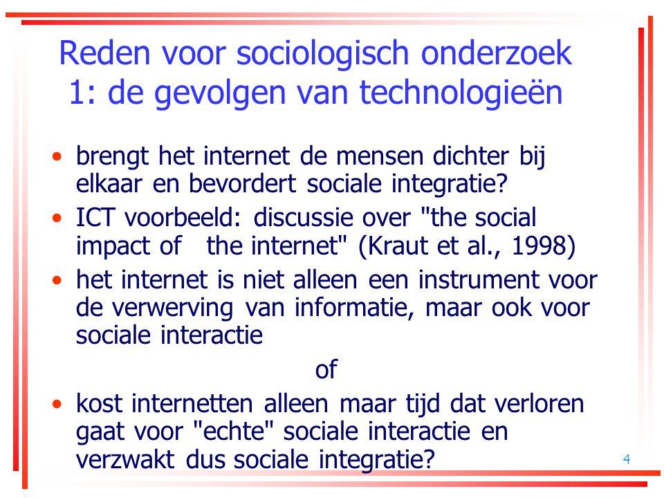 4 Reden voor sociologisch onderzoek 1: de gevolgen van technologieën brengt het internet de mensen dichter bij elkaar en bevordert sociale integratie?