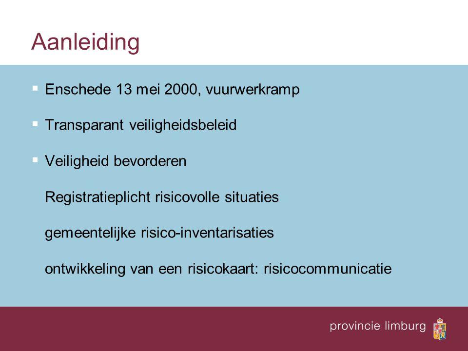 De risicokaart: doorontwikkeling Mogelijkheden voor toekomst  Koppelingen: bv.