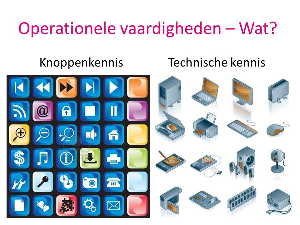 Operationele vaardigheden – Wat? KnoppenkennisTechnische kennis