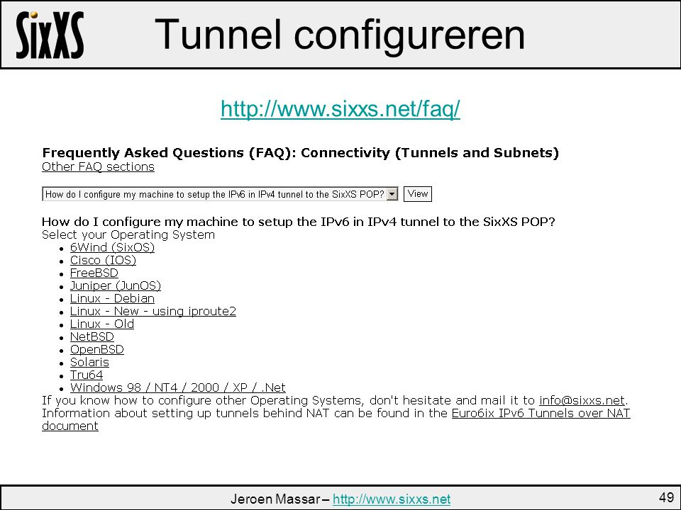 Jeroen Massar –   49 Tunnel configureren