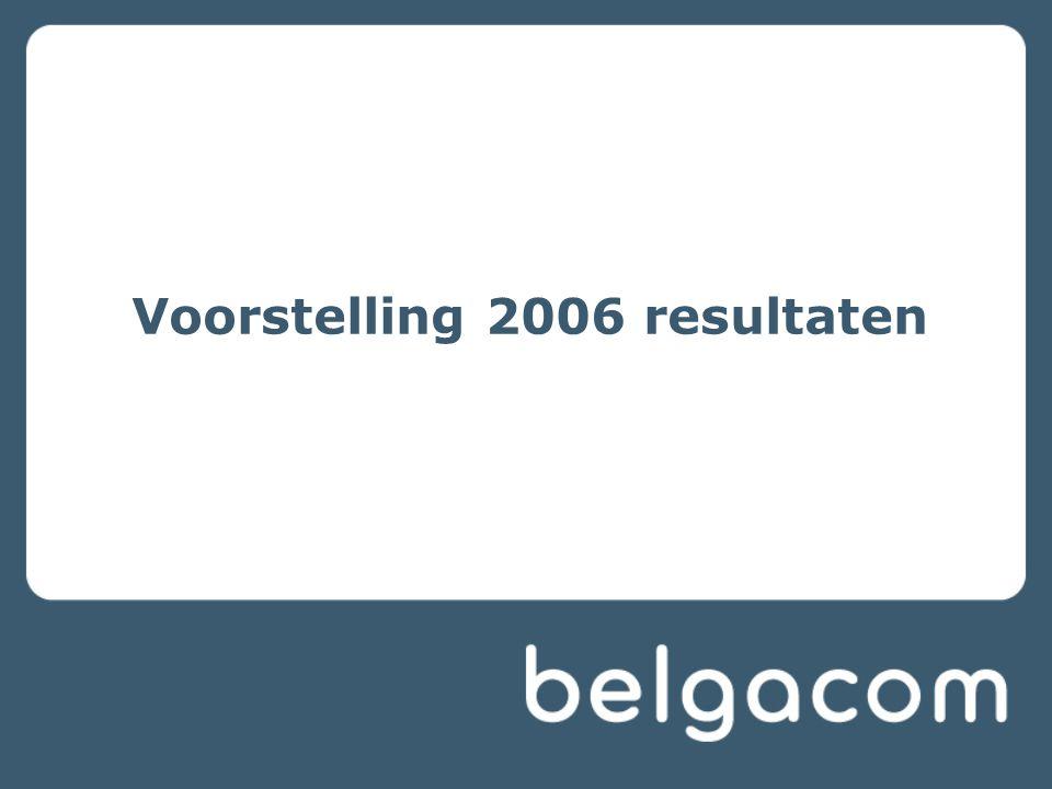 Voorstelling 2006 resultaten