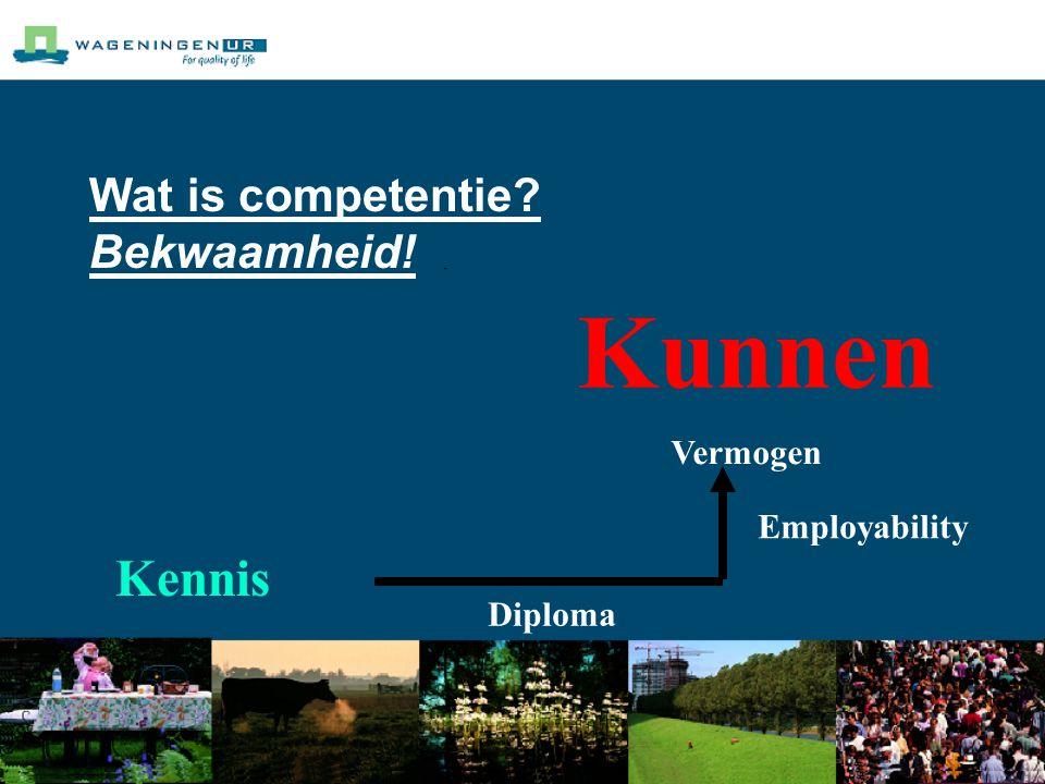 Wat is competentie? Bekwaamheid! Kennis Kunnen Vermogen Diploma Employability