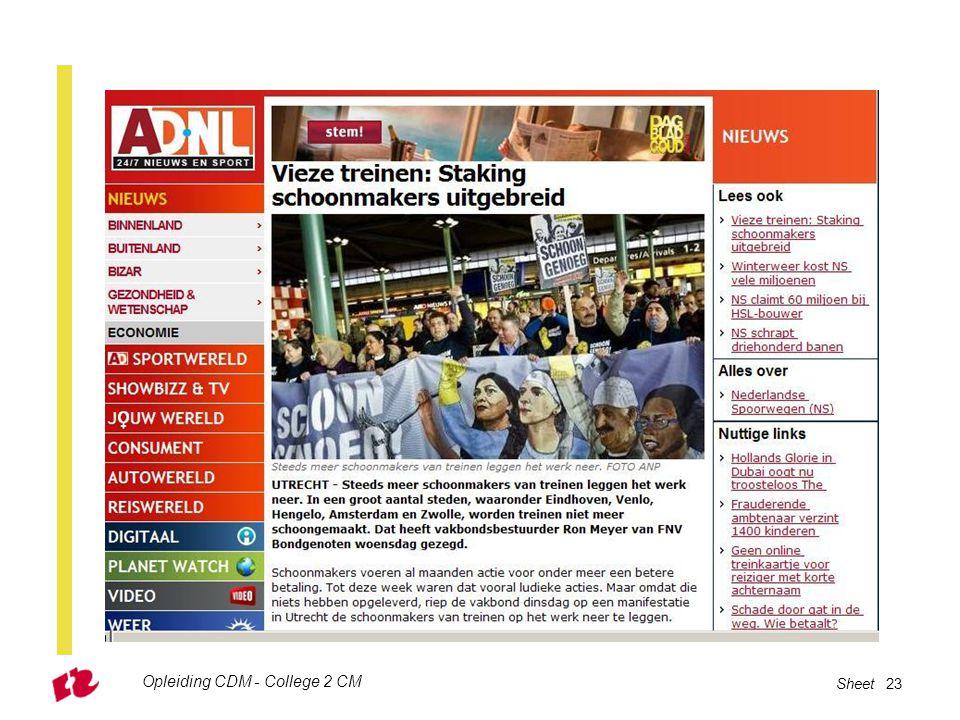 Opleiding CDM - College 2 CM Sheet 23
