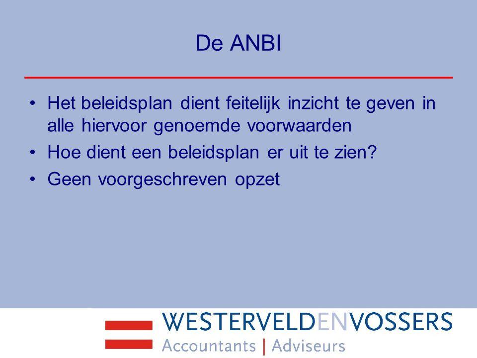 De ANBI Vragen?