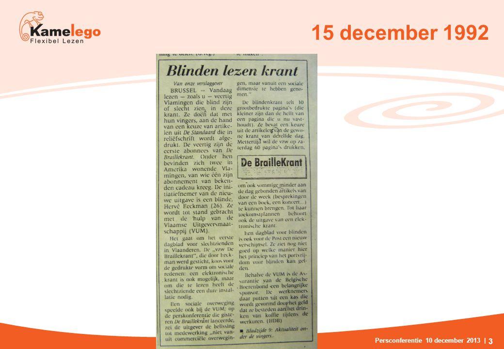 15 december 1992 Persconferentie 10 december 2013 | 3