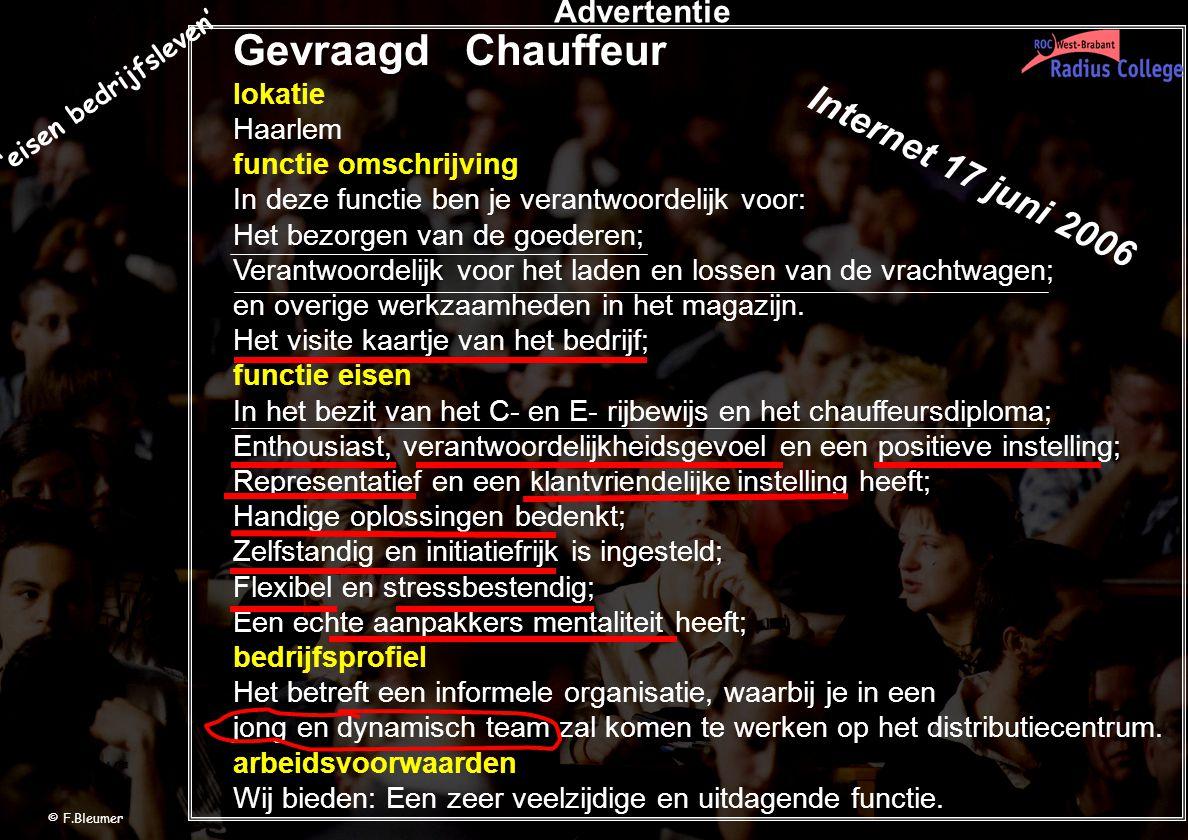 Gevraagd Chauffeur lokatie Haarlem functie omschrijving In deze functie ben je verantwoordelijk voor: Het bezorgen van de goederen; Verantwoordelijk v