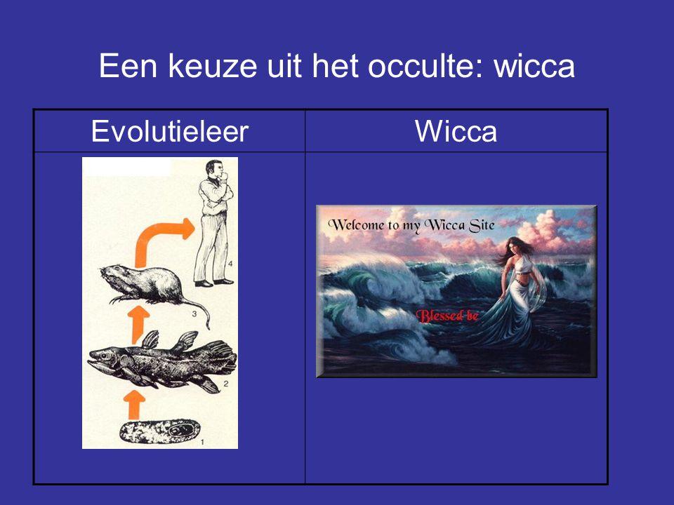 Een keuze uit het occulte: wicca EvolutieleerWicca