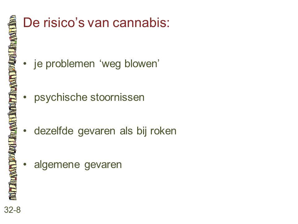 De risico's van cannabis: 32-8 je problemen 'weg blowen' psychische stoornissen dezelfde gevaren als bij roken algemene gevaren